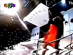 2 girls stripping   party brazilian TV years 90