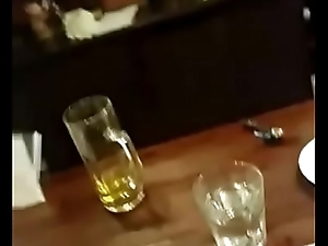 completely drunk girl in pub