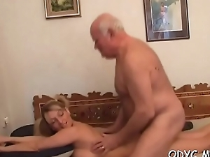 Barely legal whore loves old lad more than her coevals