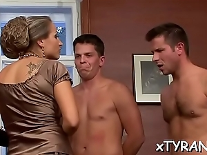 Dude gets his dick sucked in some sizzling sexy fetish dissimulate