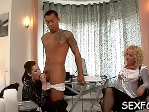 Sexy upper classes relish some thick cocks in hardcore scenery