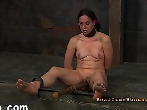 Hawt angel is tearing up from her hardcore punishment