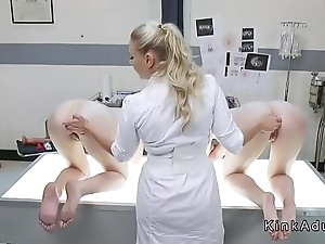 Busty doctor anal toys lesbian slaves