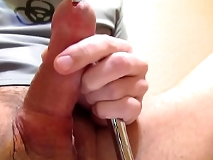 Long Cockstuffing and urethral soudning session. DEEP