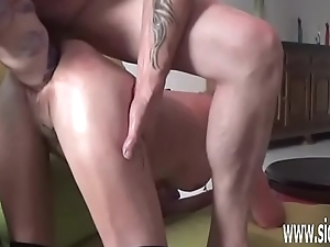 Double fisting and huge dildo fucked amateur
