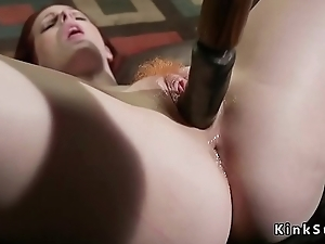 Redhead feet whipped before anal fucked