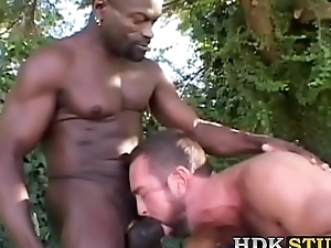 Dispirited guy has raw going to bed session with hefty BBC masseuse