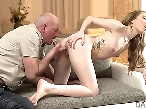 DADDY4K. Old old man creampies son'_s new girlfriend after amazing sex
