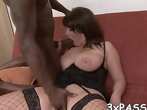 Anal of raunchy bitch is stuffed by large black piece of meat