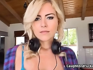 Blonde caught and fucked for insurance fraud