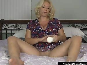 Smoking Milf Charlee Chase Rubs Hitachi Vulnerable Pussy In Hose!