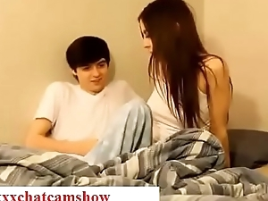 Brother seduces his sleepy sister while sleeping in nook taboo