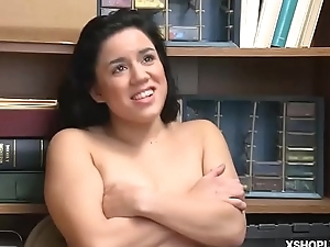 Fake LP Office-holder Monica Saige feed with a mouthful!