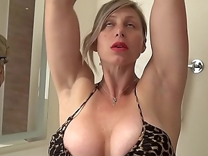Big Tit MILF Physicality Chick Shaves