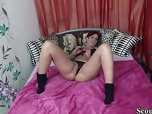 German MILF is Horny and styled Friend of Son respecting Fuck her