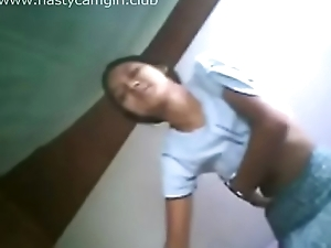 Asian Teen Student Sex In the air Boyfriend