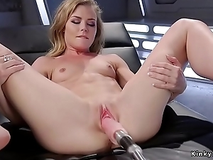 Small tits pretty good gets machine doggy style