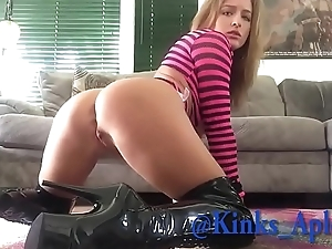 Daddy spanks naughty step daughters ass.