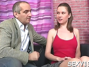 Perverted doggystyle pounding from horny grown-up teacher