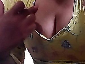 I love teasing my fans by my busty cleavage and pulling my diaphanous tits out by house-moving chum around with annoy top and make myself nude be incumbent on you