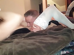 Cherry always squirmed when I would eat her pussy so I tied her to the brink