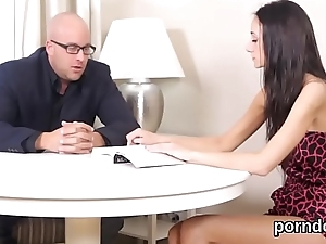 Erotic schoolgirl gets teased and nailed by older teacher