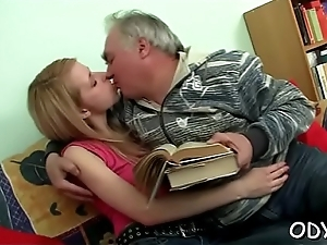Legal age teenager seductress gts rolling in money on with old fellow and gives blowjob