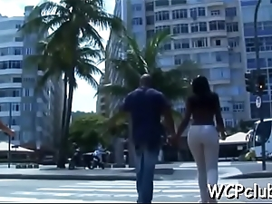 Hot and naughty ebon chick gets fat chocolate dick in ass