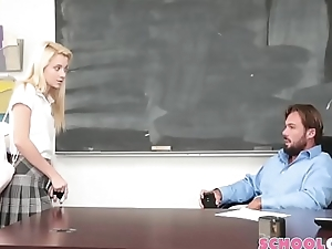 Young Sexy School-Girl Seducing Teacher