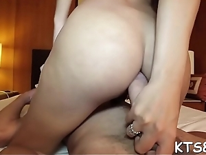 Bitchy tranny plays with obstacle and enjoys hardcore anal