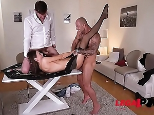 Poker Babe Tina Kay Hardcore Fucked &amp_ Double Penetrated By Two Studs GP056
