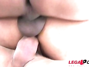Latina Slut Mia Linz rough DP with two monster cocks