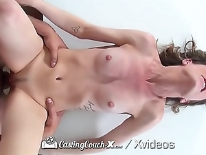 CASTINGCOUCH-X Butterfly wing pink pussy lips POUNDED