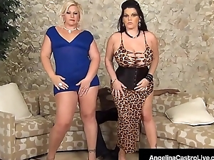 Cuban BBW Angelina Castro Does Anal 3Way With Broad in the beam Louring Flannel