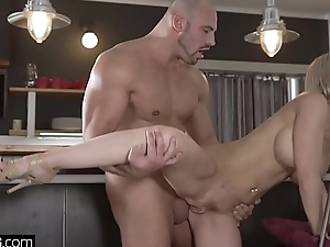 Glamkore  Nathaly Cherie sensual anal fucking with her hubby
