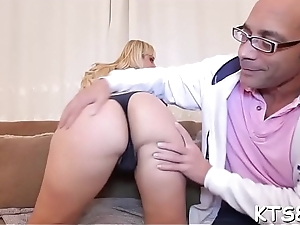 Nasty shemale bitch gets her asshole pounded and creampied