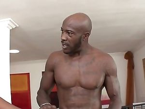 Two lusty ebony sluts Coffee increased by Natalie Evans share one long black pole on the sofa