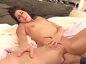 Kara Price gives a stud head and gets cumshot on face after riding his dick