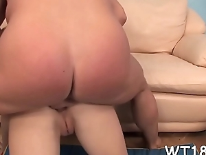 Hot and sexy playgirl gets cunt licked then screwed badly