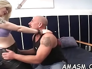 Busty delights with silencing cohort previous to heavy sex scenes