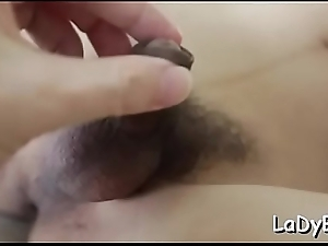 Slim asian shelady gets her narrow butthole poked rough