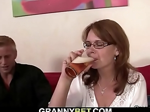 Boozed woman picked up and fucked