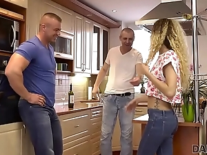 DADDY4K. Spoilt dad unexpectedly seduces son'_s new young girlfriend